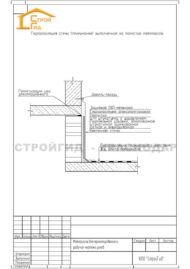 чертеж---гидроизоляция-стены-(примыкания)-выполненная-из-пористых-материалов